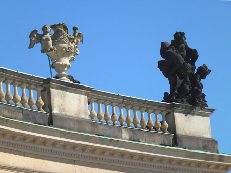 A detail of the new palace in Potsdam in Germany photo