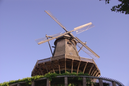 An old wind mill in the sanssouci park in Potsdam in Germany photo