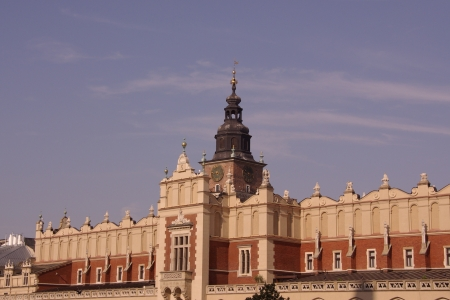 The historic cloth hall on the market in Krakow in Poland