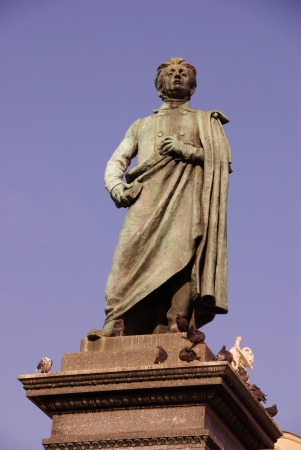 mickiewicz: The statue of Adam Mickiewicz in Krakow in Poland Stock Photo