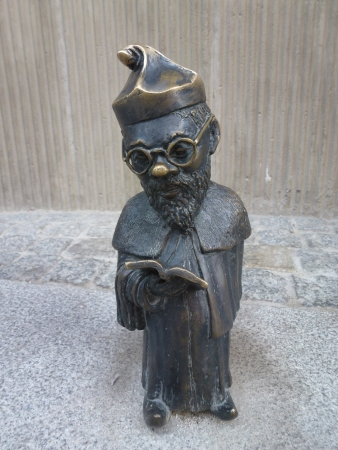 kobold: One of the fairytale dwarf statues in the city Wroclaw in Poland