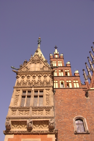 d       cor: The historic city hall on the rynek  market  in Wroclaw in Poland