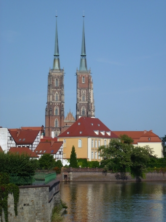 The cathedral of St John the Baptist on the cathedral island in Wroclaw in Poland photo