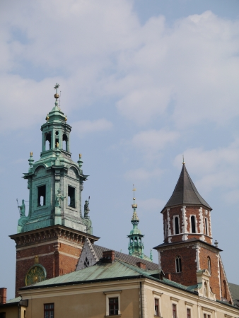 The cathedral of the royal palace on the Wawel hill in Krakow in poland photo