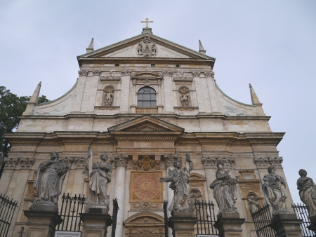 The front of the st Peter and Paul church with sculptures on the gate Stock Photo - 14960342