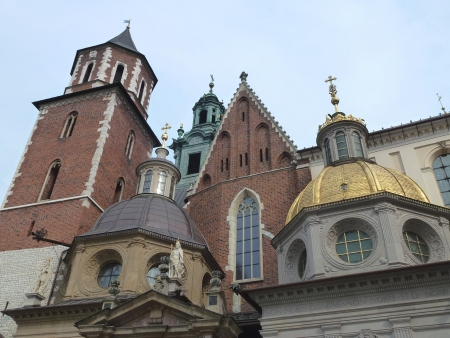 The cathedral of the royal palace on the Wawel hill in Krakow in poland