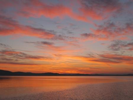 adriatic: Sunrise in the Adriatic archipelago of Croatia