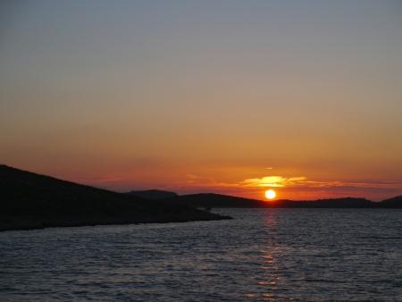 kornati national park: Sunset in the Kornati national park in Croatia