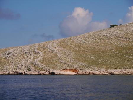 kornat: One of the hills od the island Kornat in Croatia