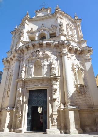 The baroque church of saint Matteo in Lecce in Italy photo