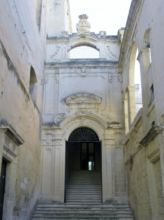 ex: The gate to the ex conservatory Saint Anna in Lecce in Italy