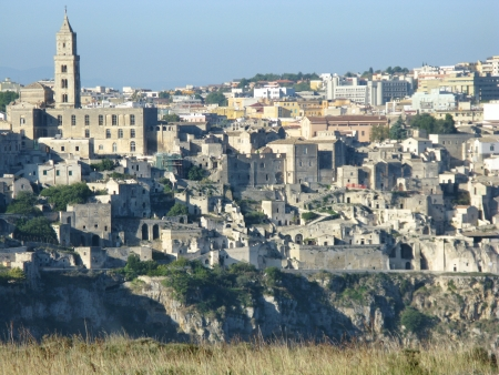 A view on the historic city Matera with the Canyon of Matera  in Basilicata in Italy Stock Photo - 16257962