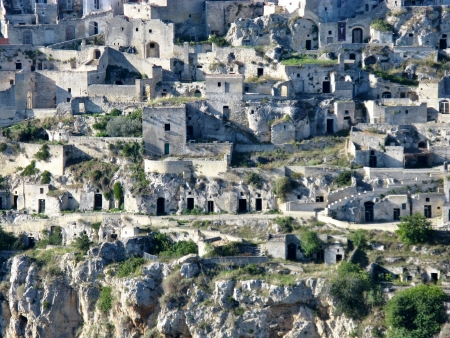 A view on the historic city Matera with the rupestrian churches ands houses in Basilicata in Italy Stock Photo - 16257978