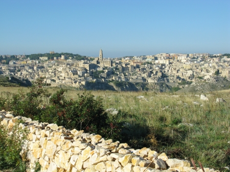 A view on the historic city Matera with the Canyon of Matera  in Basilicata in Italy Stock Photo - 16257977