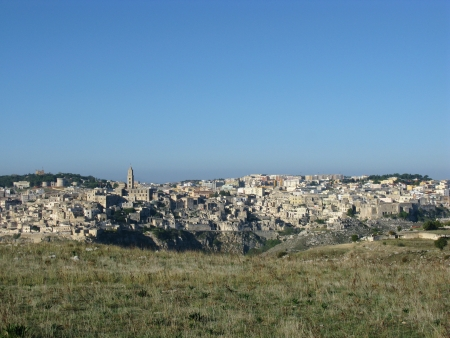 A view on the historic city Matera with the Canyon of Matera  in Basilicata in Italy Stock Photo - 16257964