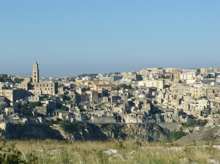 A view on the historic city Matera with the Canyon of Matera  in Basilicata in Italy Stock Photo - 16257950