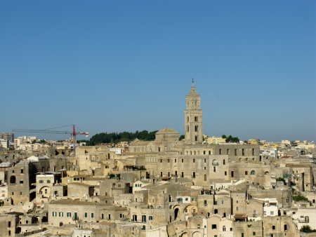 A view on the historic city Matera with the rupestrian churches ands houses in Basilicata in Italy Stock Photo - 16257952