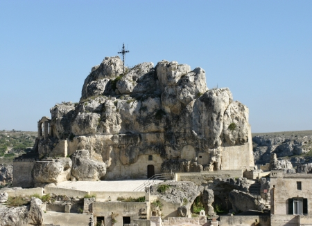 The Madonna de Idris rock church in Matera in Basilicata in the south of Italy Stock Photo - 16257943