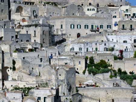 A view on the historic city Matera with the rupestrian churches ands houses in Basilicata in Italy Stock Photo - 16257976