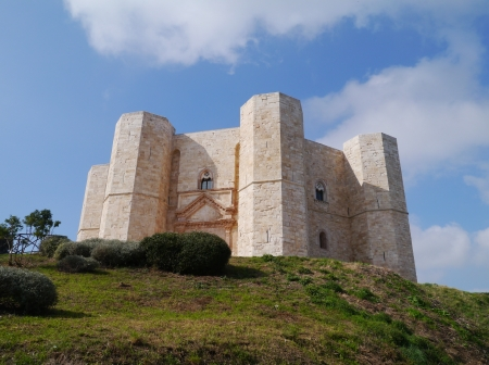 The castel del monte a octagonal castle in Apulia in Italy photo