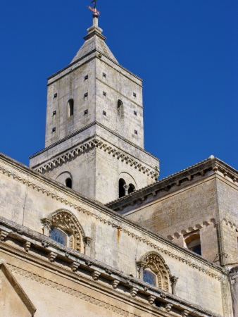 sassi: The cathedral of Mantera in Basilicata in the south of Italy