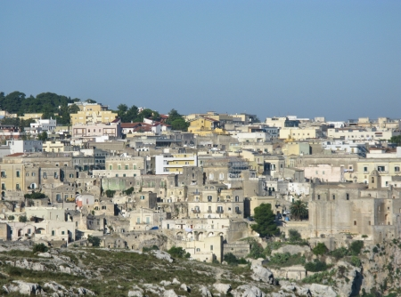 A view on the historic city Matera with the rupestrian churches ands houses in Basilicata in Italy Stock Photo - 16257982