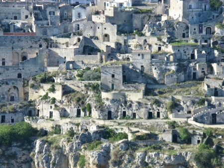 A view on the historic city Matera with the rupestrian churches ands houses in Basilicata in Italy Stock Photo - 16258017