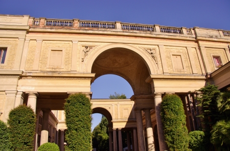 The triumphal arches of the New orangery at the Klausberg in the sans souci park in Potsdam in Germany photo