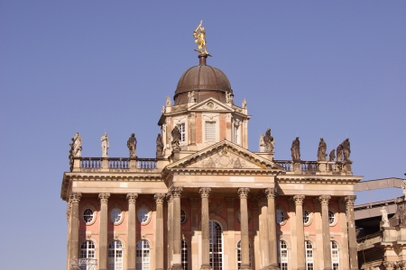 sans: One of the buildings of the university in the sans souci park in Potsdam in Germany