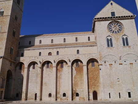 The cathedral of Trani in Apulia in Italy photo