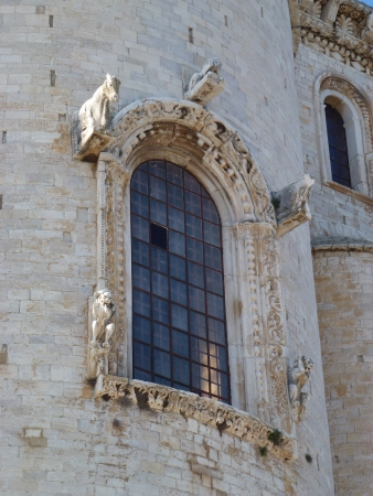 A detail of the cathedral of Trani in Apulia in Italy photo