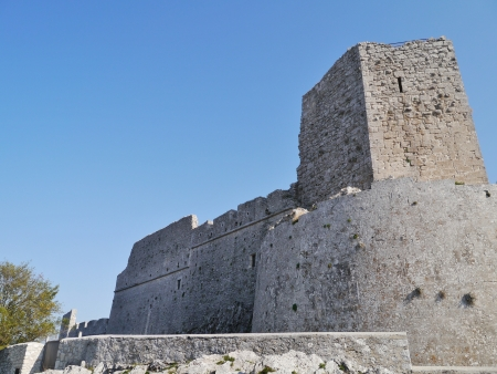 foggia: The castle of Monte Saint Angelo in Gargano in Italy