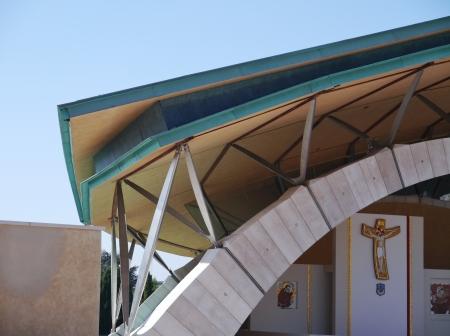 pio: The church of saint Pio from Pietrelcina in San Giovanni rotondo in Apulia in Italy