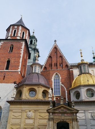 The cathedral of the royal palace on the Wawel hill in Krakow in poland Stock Photo - 16552075