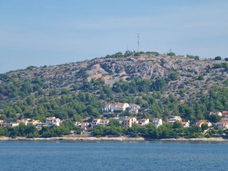 Summer houses on the island Murter in the Adriatic sea of Croatia Stock Photo - 16552070