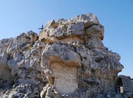 The Madonna de Idris rock church in Matera in Basilicata in the south of Italy Stock Photo - 16571083