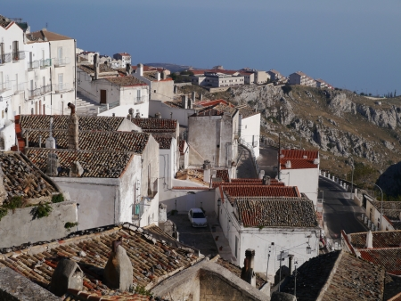 foggia: View at the city Monte Saint Angelo in Gargano in Italy
