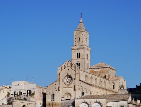 sassi: Mantera in Basilicata in the south of Italy The cathedral of