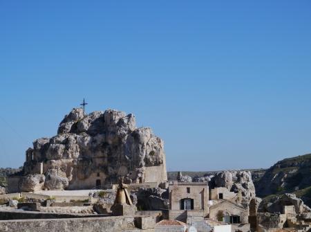 rupestrian: The Madonna de Idris rock church in Matera in Basilicata in the south of Italy
