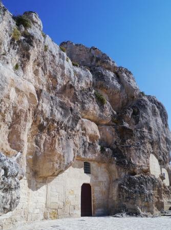 The Madonna de Idris rock church in Matera in Basilicata in the south of Italy Stock Photo - 16573535