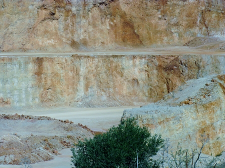 A quarry for building materials in Apulia in Italy photo