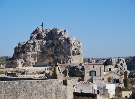 The Madonna de Idris rock church in Matera in Basilicata in the south of Italy Stock Photo - 16656328