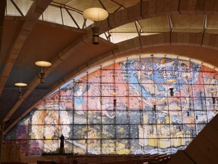 The interior of the church of saint Pio from Pietrelcina in San Giovanni rotondo in Apulia in Italy