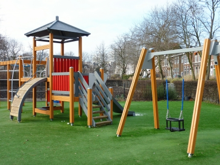 A colourful playground for children photo