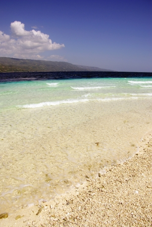 sandbar: The sandbar with changing shapes on Sumilon island in the Philippines