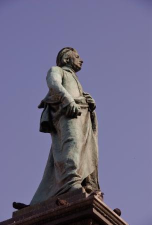 mickiewicz: The statue of Adam Mickiewicz in Krakow in Poland Editorial
