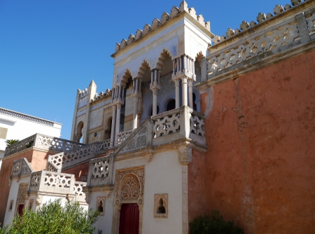 The Sticchi palace built in moorish style in Santa Cesarea Terme in Puglia in Italy