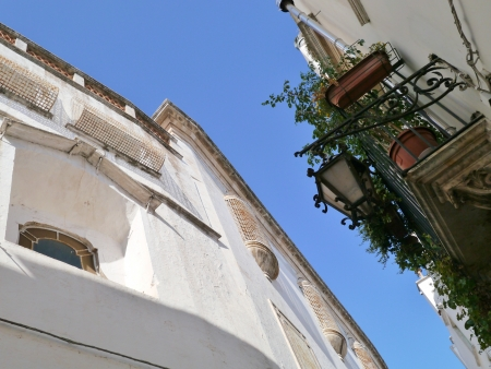 A street in Martina Franca in the south of Italy photo