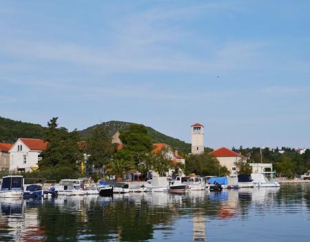The harbour of Veli Iz on the island Iz in Croatia Stock Photo - 16839449