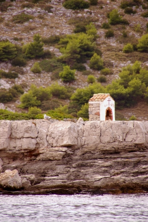 A chapel on the island Kornat in the Adriatic sea of Croatia Stock Photo - 16851468